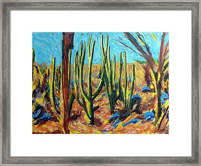 El Bosque Del Desierto Framed Print by Gerhardt Isringhaus