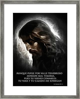 El Buen Pastor Framed Print by Steve K