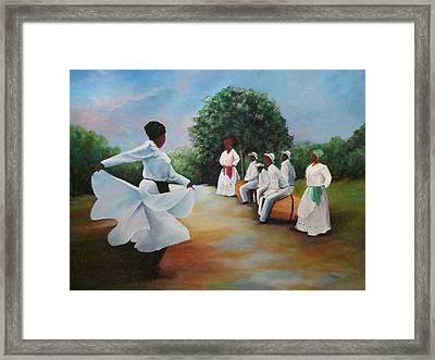 El Camino De La Bomba Framed Print by Migdalia Bahamundi