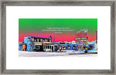 El Camino Motor Hotel V2 Framed Print by Don Durante Jr