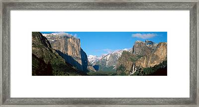 El Capitan And Half Dome Rock Framed Print by Panoramic Images