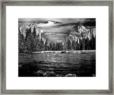 El Capitan - Bridalveil - Half Dome Framed Print