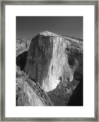 106663-el Capitan From Higher Cathedral Spire, Bw Framed Print