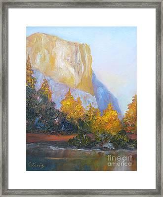 El Capitan Light Framed Print by Carolyn Jarvis