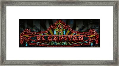 El Capitan Marquee Framed Print by Bill Jonas