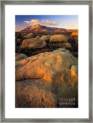 El Capitan Texas Framed Print by Inge Johnsson