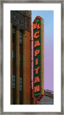 El Capitan Theatre Framed Print by Bill Jonas