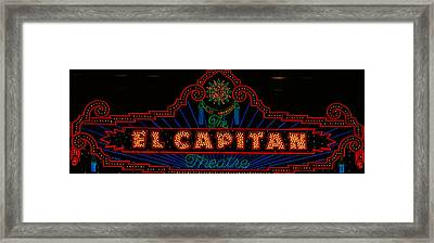 El Capitan Theatre Sign In Hollywood Framed Print by Panoramic Images