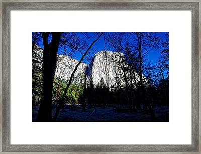 El Capitan Winter Morning Framed Print by Scott McGuire