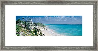 El Castillo, Quintana Roo Caribbean Framed Print by Panoramic Images