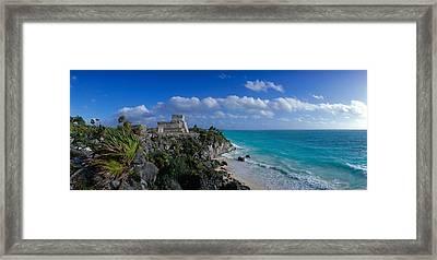El Castillo Tulum Mexico Framed Print