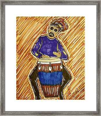 El Congero Framed Print by Chrissy  Pena