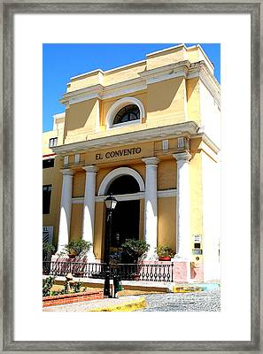 El Convento Hotel Framed Print by The Art of Alice Terrill