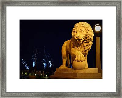 El Galleon And Bridge Of Lions 1 Framed Print by Sheri McLeroy