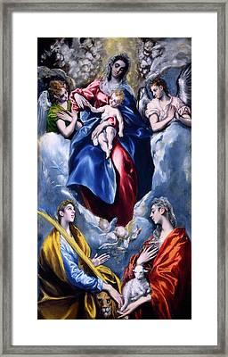 El Greco Domenikos Theotokopoulos Greek Framed Print by Quint Lox