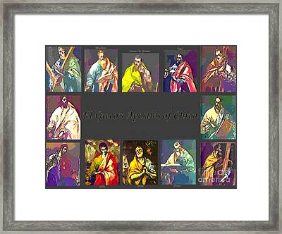 El Greco's Apostles Of Christ Framed Print by Barbara Griffin