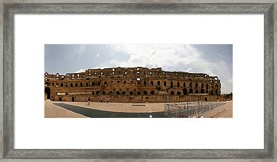 Framed Print featuring the photograph El Jem by Jon Emery