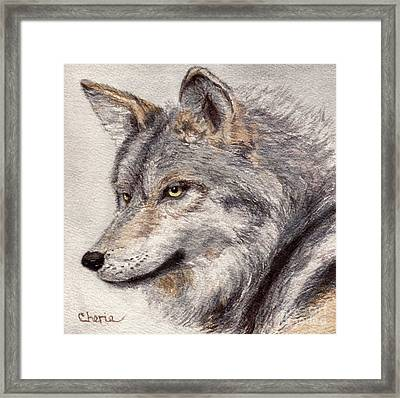 El Lobo Framed Print by Vikki Wicks