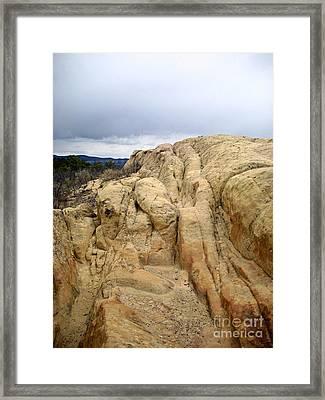 El Malpais Sand Bluff 3 Framed Print