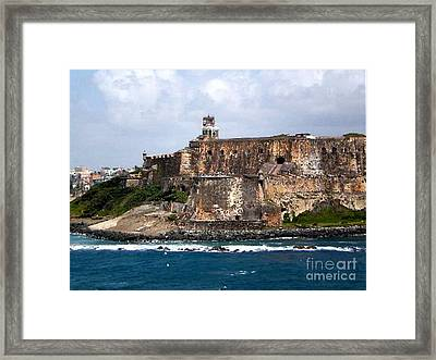 Framed Print featuring the painting El Moro by Holly Martinson