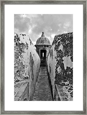 El Moro Sentry Post Framed Print by Jim Chamberlain