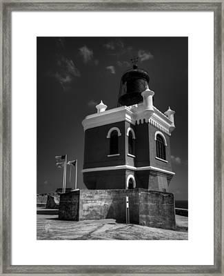 El Morro 003 Bw Framed Print by Lance Vaughn
