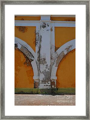El Morro Deep Yellow Arch Framed Print