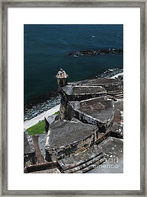 El Morro From Above Framed Print
