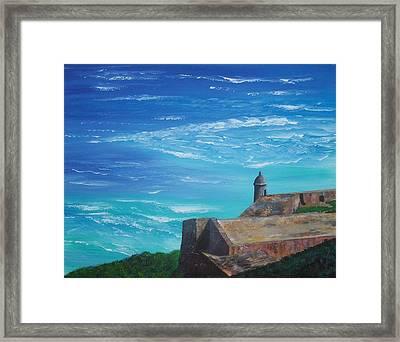 El Morro II Framed Print by Tony Rodriguez