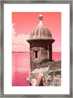 El Morro In The Pink Framed Print