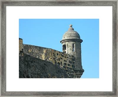 El Morro Parapet 1 Framed Print by David  Ortiz