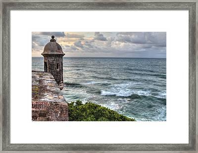 El Morro Sunset Framed Print