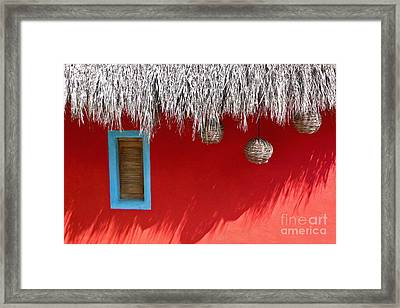El Muro Roja Framed Print by Amy Fearn