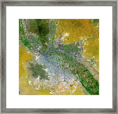 El Paso Framed Print by Nasa