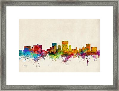 El Paso Texas Skyline Framed Print by Michael Tompsett