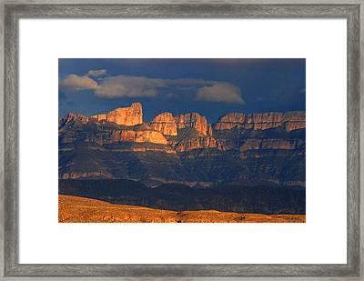 El Pico And Sierra Del Carmen Framed Print by Cindy McIntyre