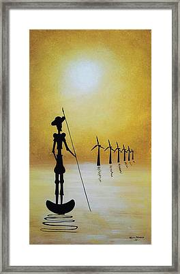 Don Quixote Fighting The Windmills Framed Print
