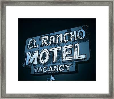 El Rancho Motel Framed Print