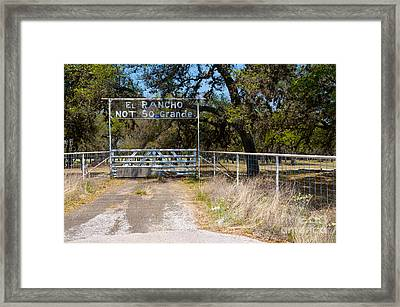 El Rancho Not So Grande Framed Print by Vinnie Oakes