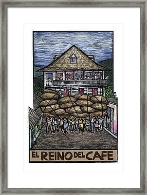 El Reino Del Cafe Framed Print by Ricardo Levins Morales