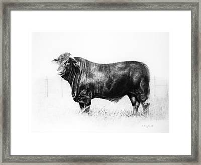 Framed Print featuring the drawing El Santa Gertrudis by Noe Peralez