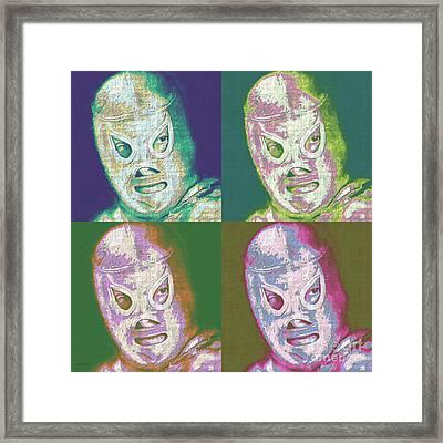 El Santo The Masked Wrestler Four 20130218 Framed Print