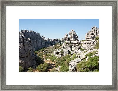 El Torcal Natural Park Framed Print by David Parker
