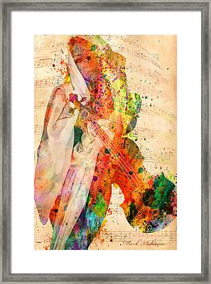 El Violin  Framed Print by Mark Ashkenazi