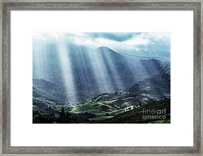 El Yunque And Sun Rays Framed Print by Thomas R Fletcher