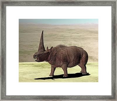 Elasmotherium Framed Print by Friedrich Saurer