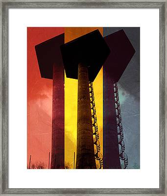 Framed Print featuring the photograph Elastic Concrete Part Three by Sir Josef - Social Critic - ART