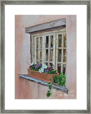 Elayne Look Through The Window Framed Print