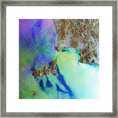 Elba Framed Print by European Space Agency