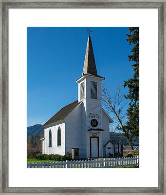 Elbe Historic Church Framed Print
